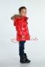 Детский пуховик монклер красный